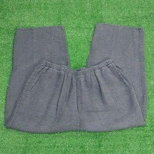 Flax Womens Gray Pants Sz L